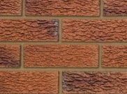 65mm facing brick range: Dornoch red rustic 65mm facing brick