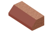 Shaped angled bricks: Plinth stretcher brick red