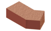 Shaped angled bricks: External angle brick red