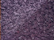Decorative chippings, gravels & pebbles: Crushed slate blue 25kg bag