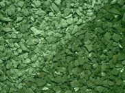 Decorative chippings, gravels & pebbles: Crushed slate green 25kg bag