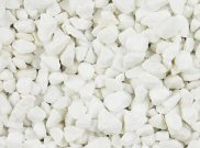Decorative chippings, gravels & pebbles: White gravel 25kg bag