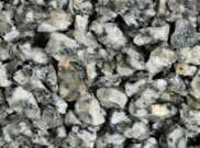 Chippings gravels pebbles: Silver grey chippings 25kg bag