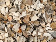 Decorative chippings, gravels & pebbles: White stone flint 20mm 25kg