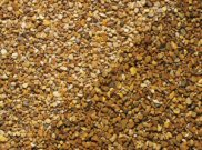 Decorative chippings, gravels & pebbles: York gold gravel 10mm 25kg bag