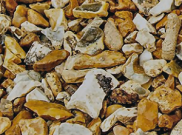 Decorative chippings, gravels & pebbles: Buff flint 14mm Bulk bag