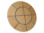 Circle/square & circle paving kits: Chalice circle honey brown Paving pack 1.5mtr