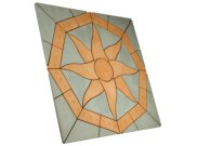 Circle/square & circle paving kits: Lakeland octagon sun Paving pack
