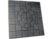 Circle/square & circle paving kits: Chalice circle square 7.29mtr2 paving pack welsh slate