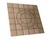 Circle/square & circle paving kits: Chalice circle square 7.29mtr2 paving pack honey brown