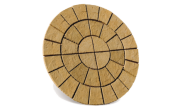 Circle/square & circle paving kits: Cathedral barley circle 1.8m