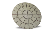 Circle/square & circle paving kits: Cathedral weathered moss circle 1.8m