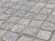 Cobbles and cobble setts: Silver grey granite setts
