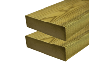 Decking accessories, components & kits: Treated decking joists 2400mm x 47mm x 100mm