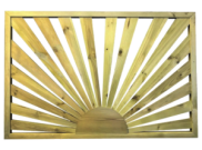Decking components accessories kits: Decking sun panel