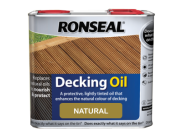 Decking components accessories kits: Decking oil natural 2.5ltr