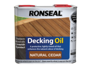 Decking components accessories kits: Decking oil natural cedar 2.5ltr