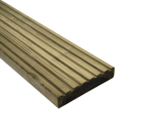 Decking components accessories kits: Treated decking boards 2400mm 32mm x 125mm