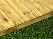 Decking components accessories kits: Treated decking kit 2.4mtr x 2.4mtr