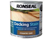 Decking components accessories kits: Decking stain country oak 2.5ltr