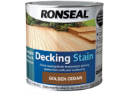 Decking components accessories kits: Decking stain golden cedar 2.5ltr