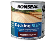 Decking components accessories kits: Decking stain rich mahogany 2.5ltr