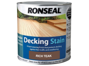 Decking components accessories kits: Decking stain rich teak 2.5ltr