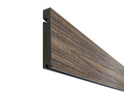Composite decking & kits: Espresso composite decking Finishing board 3.6m