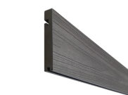 Composite decking & kits: Graphite composite decking Finishing board 3.6m