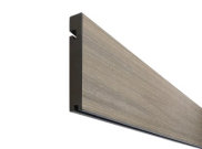Composite decking & kits: Island mist composite decking Finishing board 3.6m