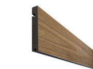 Composite decking & kits: Mocca composite decking Finishing board 3.6m