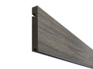 Composite decking & kits: Sandstone composite decking Finishing board 3.6m