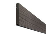 Composite decking & kits: Slate composite decking Finishing board 3.6m