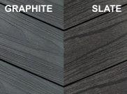 Composite decking & kits: Slate and graphite composite deck Kit 3.6 x 3.6m