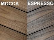 Composite decking & kits: Espresso and mocca composite deck Kit 3.6 x 3.6m
