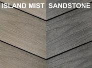 Composite decking & kits: Sandstone and island mist composite deck Kit 3.6 x 3.6m