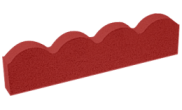 Edgings: Scalloped edging red 600mm x 150mm