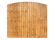 Fence panels, trellis & gates: Dome featheredge fence panel 6ft x 5ft