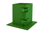 Fence posts accessories: Bolt down post support green 75x75mm