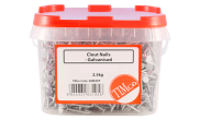 Nails: Galvanised clout nail 30mm tub