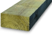 Garden sleepers: New railway sleepers green 100mm x 200mm x 2.4mtr