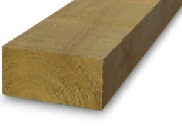 Garden sleepers: New railway sleepers brown 100mm x 200mm x 2.4mtr