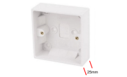 Electrical products: Surface box 1 gang 25mm