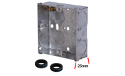 Electrical products: Metal flush box 1 gang 25mm