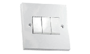 Electrical products: Wall switch 3 gang 2 way