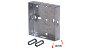 Electrical products: Metal flush box 1 gang 16mm