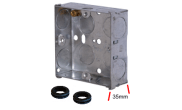 Electrical products: Metal flush box 1 gang 35mm