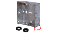 Electrical products: Metal flush box 1 gang 47mm