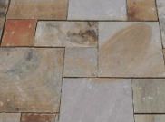 Natural stone paving: Fossil 10.2mtr2 natural stone paving kit