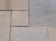 Natural stone paving / indian sandstone paving packs: Raj green 10.2mtr2 natural stone paving pack